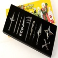 10 pcs Um Conjunto de Metal Brinquedo Espada Naruto Kunai Faca Jogando Conjunto de Mini Brinquedos Faca Ninja Naruto Naruto Arma Cosplay armas