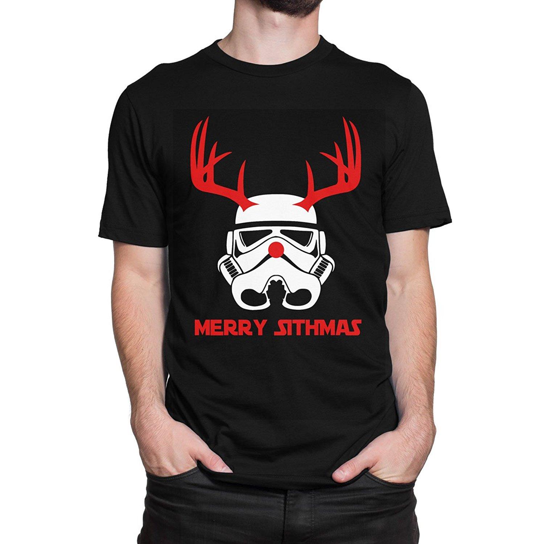 Star Wars Stormtrooper Rudolph Reindeer Christmas Mens Print Haus T-Shirt Men Tee Shirt Tops Short Sleeve Cotton T-Shirts