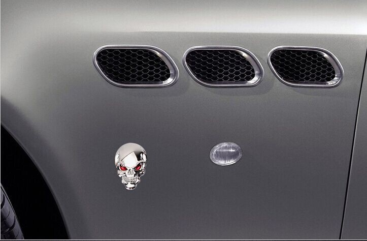 Car styling 3D Skeleton evil devil sticker