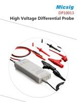 Micsig DP10013 1300 В 100 мГц высокое Напряжение дифференциальный Пробник DP 10013 комплект 3.5ns Время нарастания 50X/500X скорость затухания
