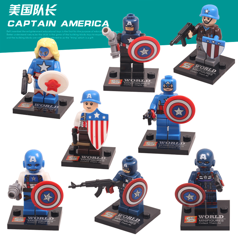 8 pcs/set marvel the avengers action mini figures hulk iran man captain...