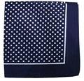 Free Shipping 2016 New Cotton Navy Blue Polka Dot Bandana Scarf For Women Mens