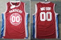 Basketball Jersey All Stitched Sewn Retro Movie Jersey Breathable Red Panthers Watson 00 Cheap Throwback Sleeveless
