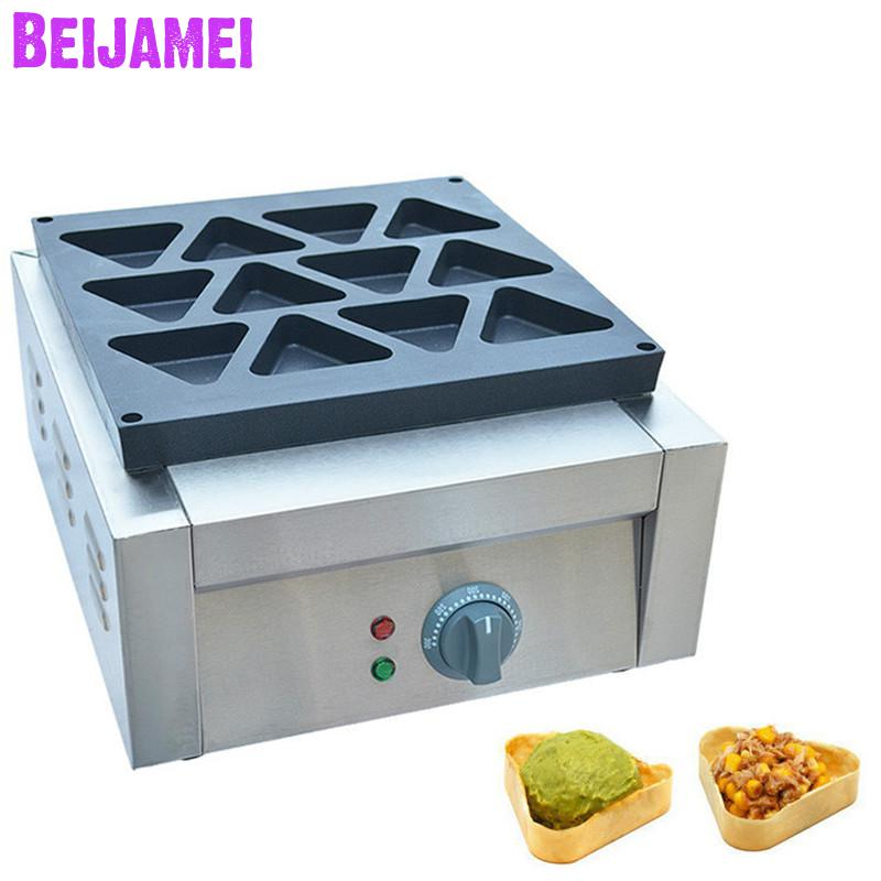 BEIJAMEI Snack Series Electric Triangle Waffle Maker Commercial Triangle Shape Cake Maker Small Waffle Making Machine