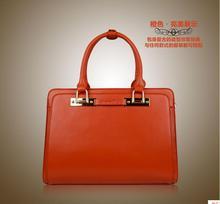 2015 New Arrival Free Shipping Luxury Genuine Leather Handbag For Women Portable Bag Retro Elegant Handbag