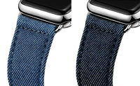 URVOI Band For Apple Watch Wrist Strap Belt Canvas And Leather Back Band With Classic Buckle