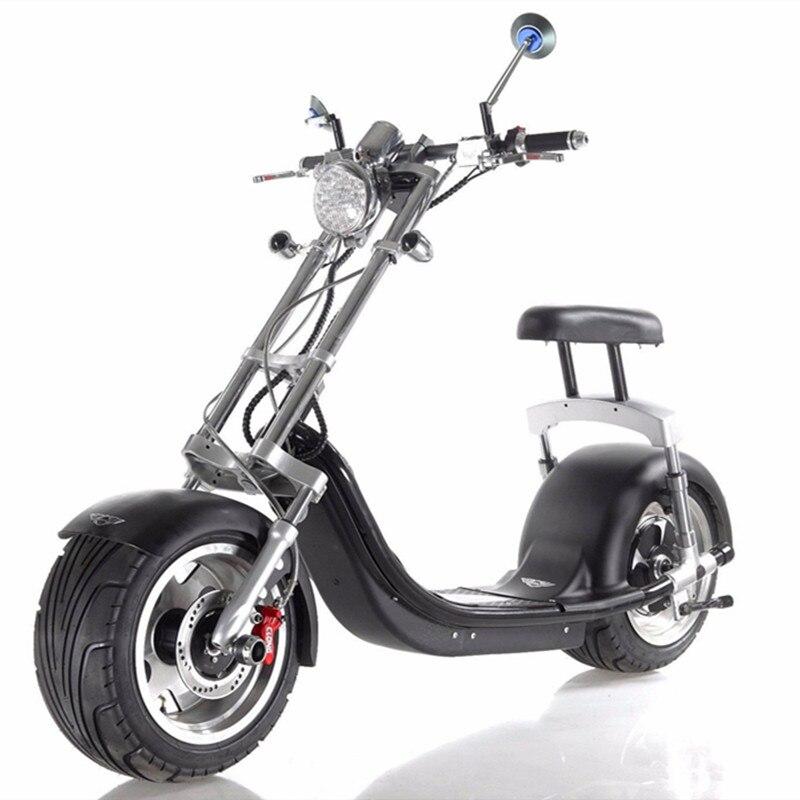 Bluetooth Remote App электрический скутер Harley 60 В 1200 Вт citycoco скутер