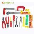 Hot niños bebé simulación juego de herramientas Kit para los niños juguetes educativos Play House clásico juguete de plástico los niños las herramientas martillo caja de herramientas