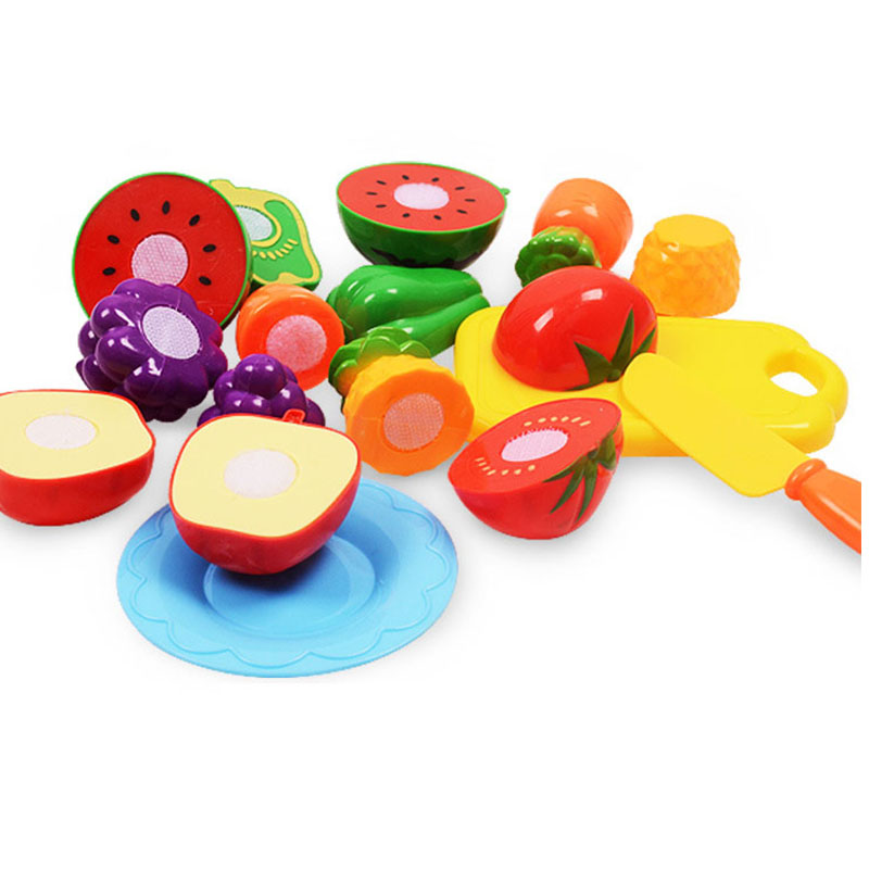 Children Kitchen Cutting Toys Pizza Fruits vegetables Fast Food Pretend Play Plastic Miniature Food Girls Kids Education Toys image