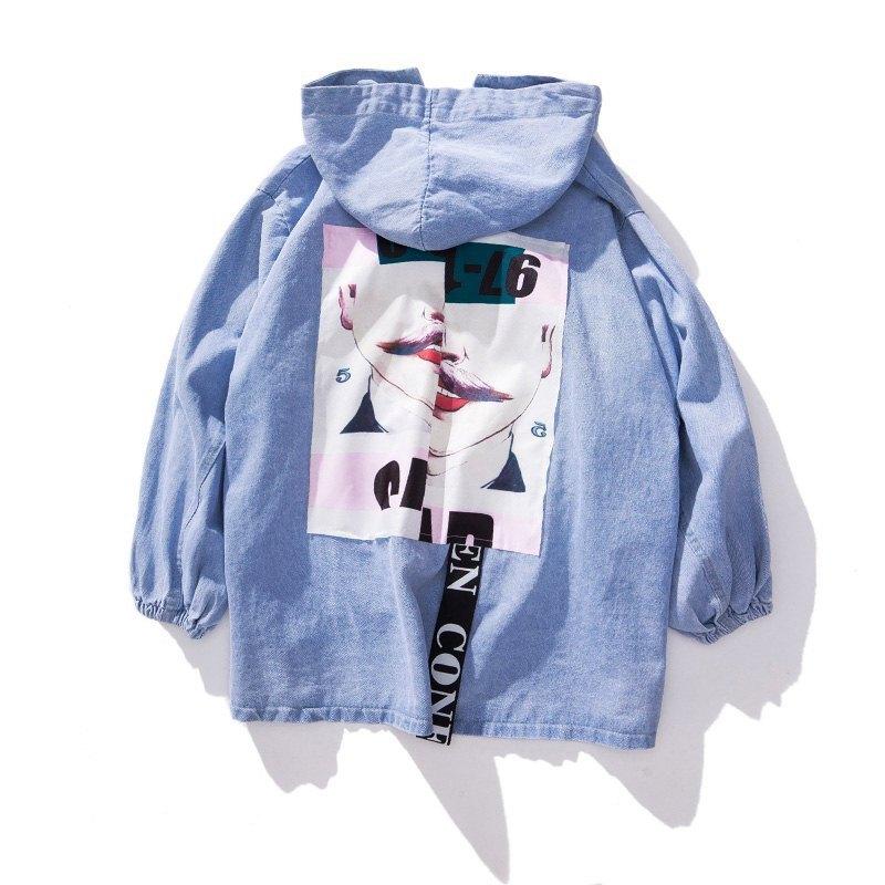 2019Cowboy Loose   Basic     Jacket   Coat Chaqueta Mujer Streetwear Jean   Jackets   Veste Thin Elegant Sweet Outwear