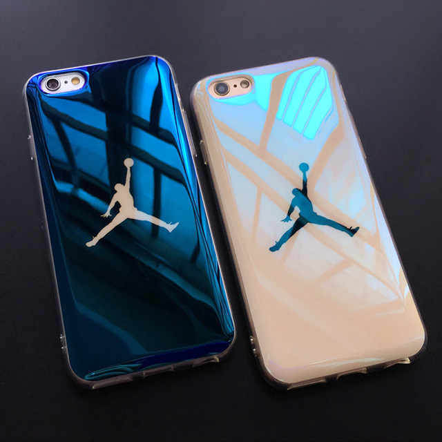 official photos 35e20 67198 Jamular Jordan Phone Case For iPhone X XS MAX XR Fundas Basketball Blue-ray  Soft Case Cover for iPhone 7 8 6 6S Plus Coque Shell