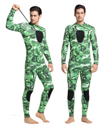 3MM Neoprene Camouflage Spearfishing Wetsuit SCR Superelastic Diving Suit Waterproof Keep Warm Surfing Full Body Nylon Swimsuit