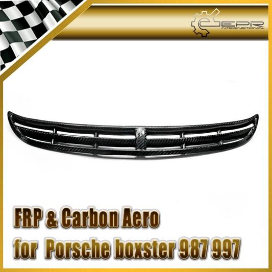 Voiture-Style pour Porsche Box 987 997 Fibre de carbone GT3 Style Grille avant en Fiber brillante Grille en maille accessoires de Kit de carrosserie Auto de course