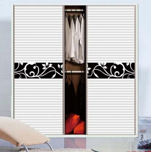<font><b>Simple</b></font> pattern vine and flower Custom cabinet Stickers closet shutter door PVC Waterproof <font><b>Home</b></font> <font><b>Decor</b></font> Furniture stickers CWPEU077