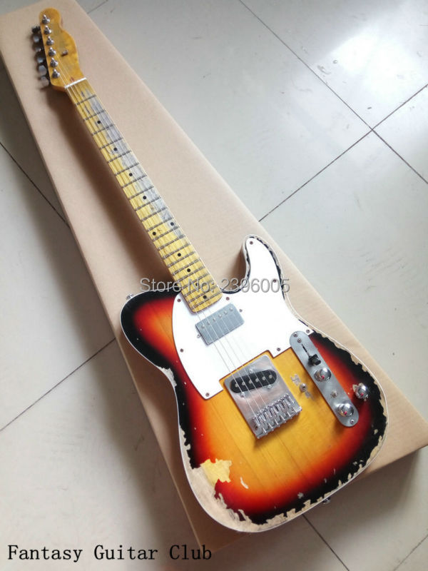 Custom Shop handmade Limited Edition Andy Summer Tribute Tele Electric Guitar tl guitar boost tuner H switch to S pickup tuner