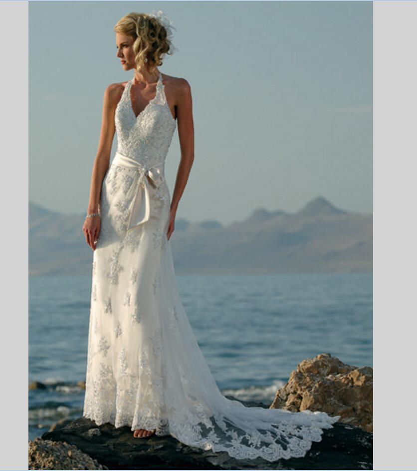 Halter Beach Wedding Dress – fashion dresses