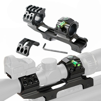 Tactical Scope Mount 25.4 mm 30mm Double ring Cantilever Heavy Duty Riflescope Mount with Bubble Level