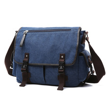 Retro British Briefcase Men Messenger Bags Travel Canvas With Leather Bag Bolsos Shoulder