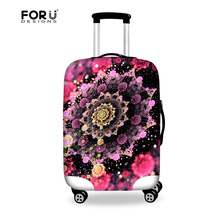 FORUDESIGNS Flower Travel Accessories Dust Covers for 18-30 Inch Suitcase Elasitc Luggage Protective Covers Luggage Set Covers