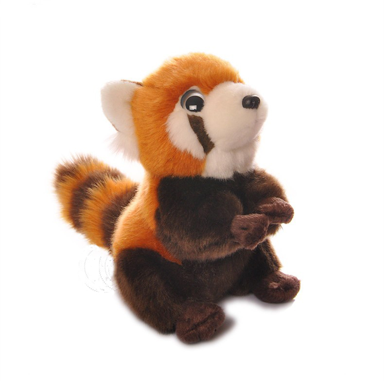 Free Shipping 18CM High Quality Red Panda Stuffed Animal Toys Kawaii Lesser Panda Plush Toys Dolls Christmas Gifts 18cm high quality gibbon stuffed animal toys lovely monkey plush toys baby toys dolls christmas gifts free shipping