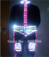 LED luminous suit for performance/glowing clothes /light up costumes