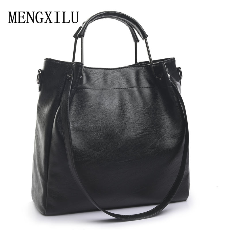 women handbag female ladies messenger bag for women shoulder bags 2017 spring winter casual high quality PU leather tote bag 2017 new elegant handbag for women high quality split leather female tote bags stylish red black gray ladies messenger bag