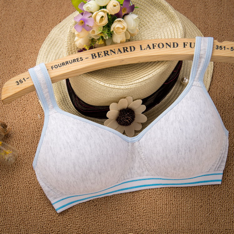 Kids Girls Training Bras Teenage Underwear Children Teens Cotton Bra Thin 7 Color Wireless Infant Puberty Clothing GB01