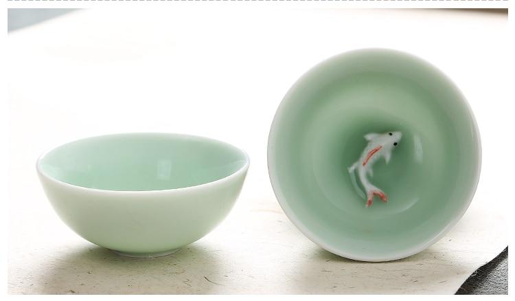 wholesaleaji me shumicë kineze Celadon vendos 6 copë çaji 1 copë - Kuzhinë, ngrënie dhe bar - Foto 4