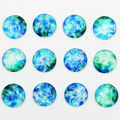 24X   12mm  constellation pattern Round  Handmade Photo Glass Cabochons & Glass Dome Cover Pendant Cameo Settings