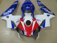 Injection mold ABS aftermarket fairing kit for Honda CBR600RR 2003 2004 red white blue fairings set CBR600 RR 03 04 CF39