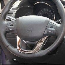 VCiiC – couverture décorative pour volant de voiture, autocollant chromé ABS pour KIA RIO K2 2011 2012 2013 2014