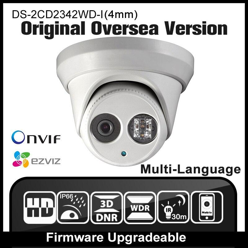 HIKVISION DS 2CD2342WD I 4mm Original English Version Security Camera 4MP surveillance CCTV Dome IPC Mini