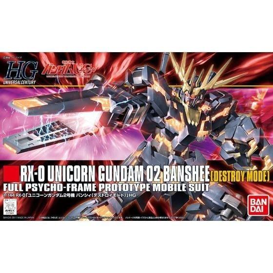 1PCS Bandai HGUC 134 RX-0 Unicorn Gundam O2 Banshee 1/144 Mobile Suit Assembly Model Kits lbx toys education toys ohs bandai rg 27 1 144 unicorn gundam 02 banshee norn rx 0 full psycho frame mobile suit assembly model kits