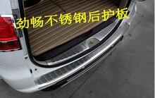304 en acier inoxydable Interne Externe pare-chocs Arrière Protecteur Sill styling De Voiture pour Mitsubishi Pajero Sport Car styling