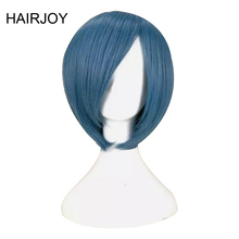 цена на HAIRJOY Blue Red Cosplay Wig Short  Synthetic  Straight Hair Free Shipping