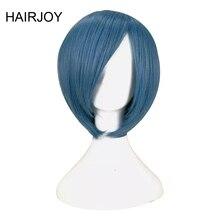 HAIRJOY Cosplay bleu rouge Blonde noir Orange rose vert violet déguisement perruque perruques de cheveux synthétiques 12 couleurs livraison gratuite