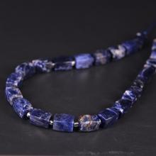 цена 21pcs/strand,Natural Sodalite Faceted Cube Nugget Loose Beads,Cut Rough Blue Stone DIY Pendant Necklace Bracelet Jewels Making онлайн в 2017 году