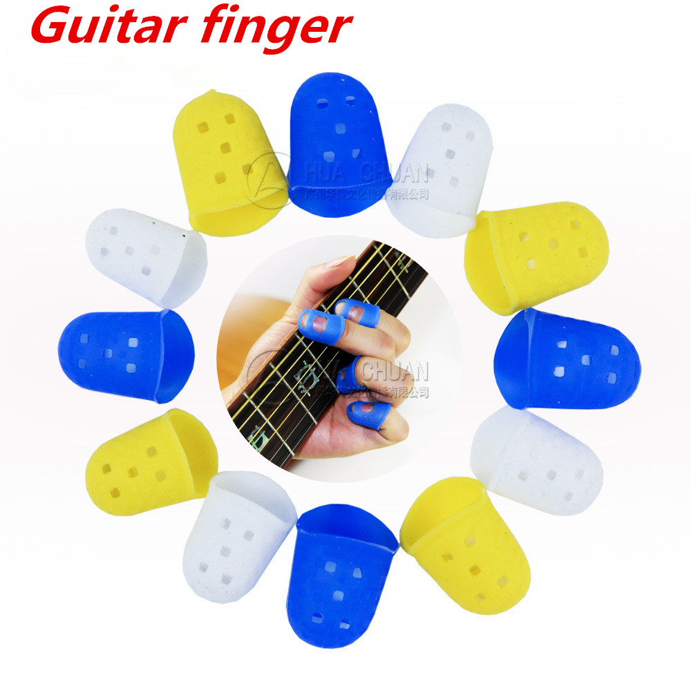 1 Pcs Guitar Finger Cover Guitar Left-Handed Anti-Pain Pouches Soft Handguard Beginner Steel String Perfect Match