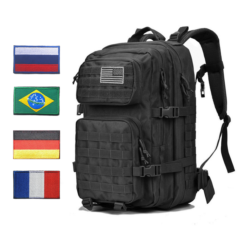Military Tactical Backpack Bag Men Male 45L Large Army Tactic Back Pack Molle 3P Assault Attack Waterproof Outdoor Black BagpackMilitary Tactical Backpack Bag Men Male 45L Large Army Tactic Back Pack Molle 3P Assault Attack Waterproof Outdoor Black Bagpack