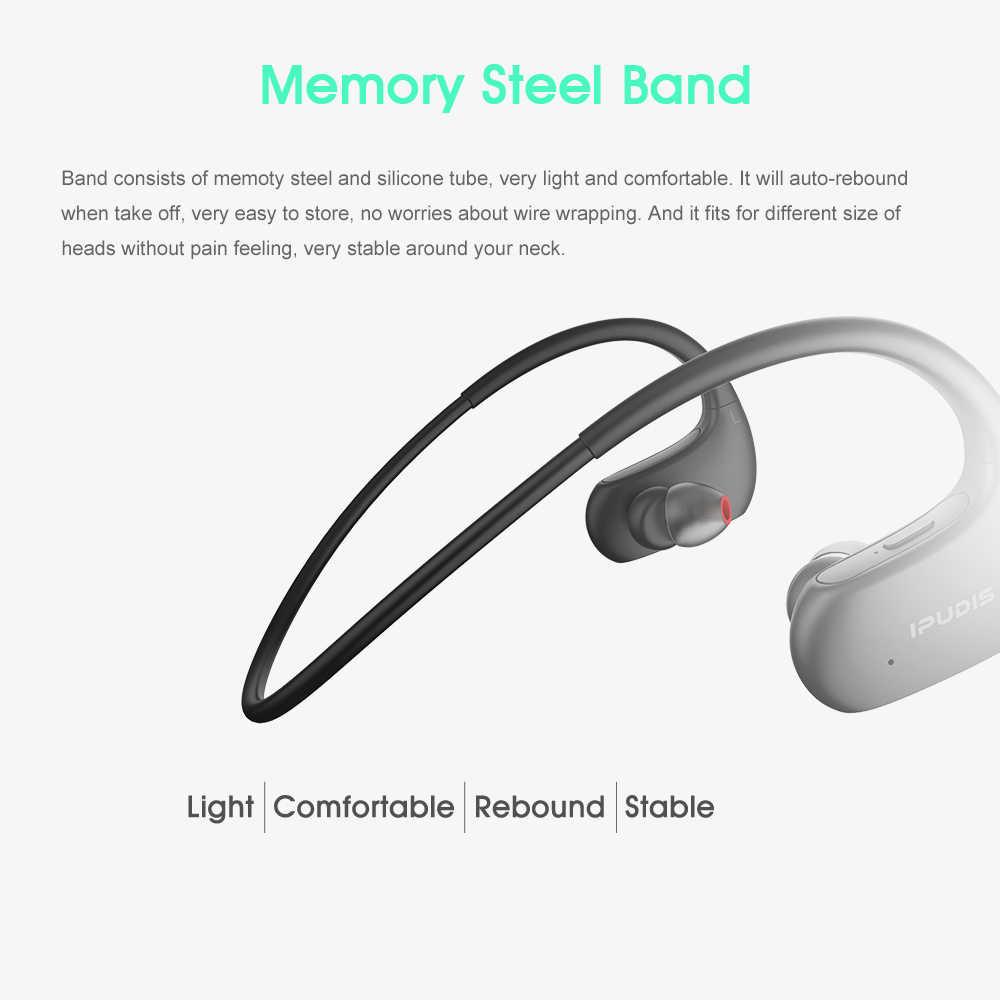 IPUDIS IPX7 wodoodporne sportowe słuchawki Bluetooth Stereo z pałąkiem na kark bezprzewodowe słuchawki zestaw słuchawkowy hi-fi z mikrofonem dla Xiaomi