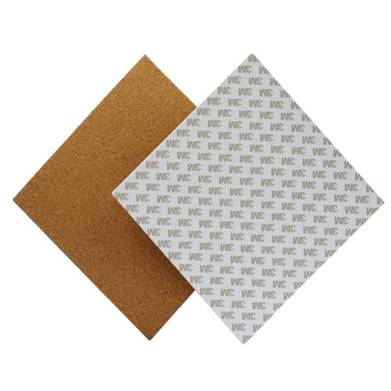 300*300*3mm cama caliente almohadilla térmica aislamiento algodón con pegamento de corcho para impresora 3D Reprap Ultimaker Makerbot