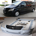 JC Styling PU Unpainted Car Body Kits with Exhaust for Benz Vito