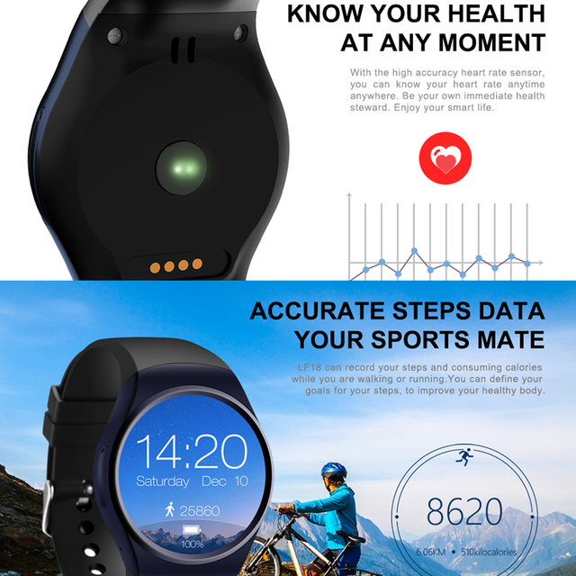 LEMFO KW18 Bluetooth smart watch full screen Support SIM TF Card Smartwatch Phone