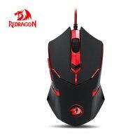 Redragon M601 CENTROPHORUS 조정 3200 인치 당 점 게이밍 마우스 PC 노트북 인체 공학적 무게 튜닝 프로 게이머 플레이 DOTA CS