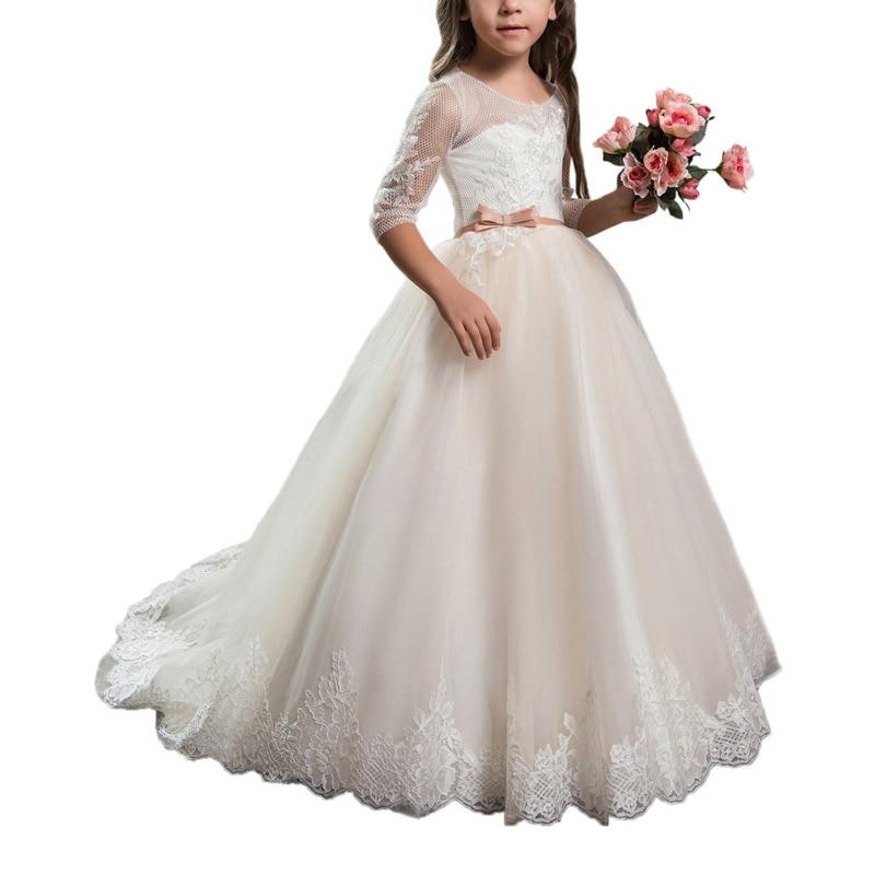 fancy little girls party dresses 2-12 years floor length children prom dresses for kids ball gown girls mesh flower dress сорочка женская primavelle m l susanna