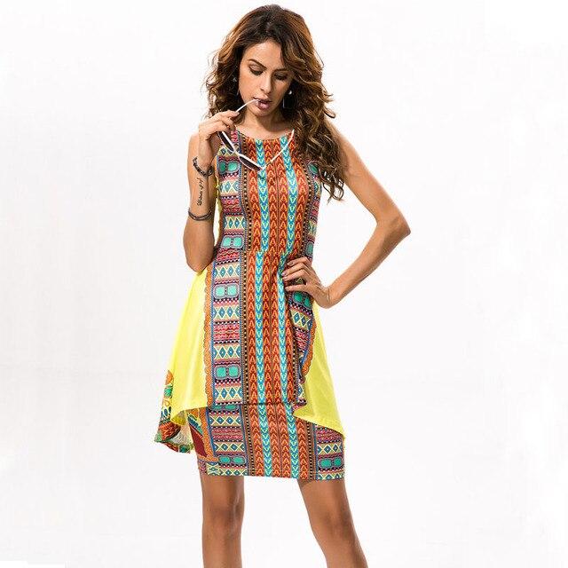 10e5da65713 Sexy Package Hip Women Dress 2016 Summer Style Retro Vintage Printed Slim  Bodycon Dress Yellow Ruffle Bandage Party Dresses 2432