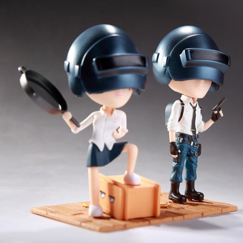 Player Unknown s Battle Grounds PUBG Model Doll PVC 12cm nendoroid Game Figurine Action Figure toy Car phone