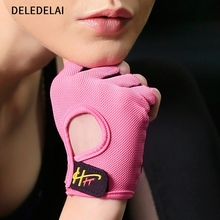 DELEDELAI Women Sports Gloves Fitness Exercise Gloves Fitness Exercise Body Building Workout Weight Lifting Half Finger Gloves