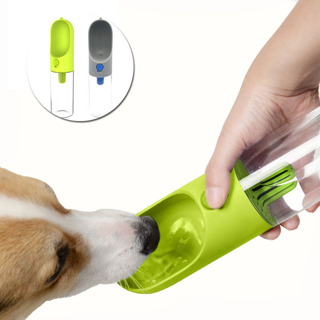 Portable Dog Water Bottle Cat Puppy Drinking Bottle Pet: 400ml Portable Pet Dog Water Bottle Filter Travel Cups