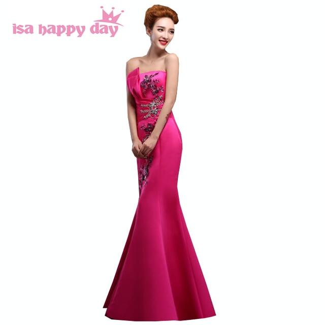 Meerjungfrau strapless damen fashion pink kleider abendkleid blau ...